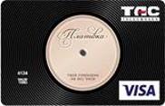 ТАСкомбанк — Карточка «Пластинка» Visa Classic гривны
