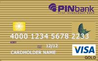 PINbank — Карта «Зарплатная с овердрафтом» Visa Gold гривны