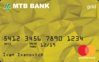 МТБ Банк — Карта «Для вкладчика» MasterCard Gold гривны