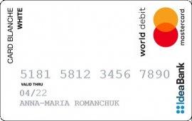 IdeaBank — Карта «Card Blanche White Online» World MasterCard, гривны
