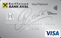 Райффайзен Банк Аваль — Карта «Для частных клиентов» Visa Platinum Paywave евро