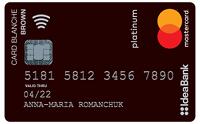 IdeaBank – Карта «Card Blanche Debit Brown» Mastercard Platinum гривны