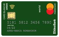 IdeaBank – Карта «Card Blanche Debit Green» Mastercard Debit гривны