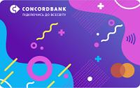 Конкорд Банк – Карта «One» Mastercard Debit World Instant доллары