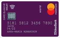 IdeaBank – Карта «Card Blanche Debit Violet» Mastercard Debit гривны