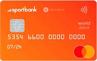 Sportbank – Карта Mastercard World Debit гривны